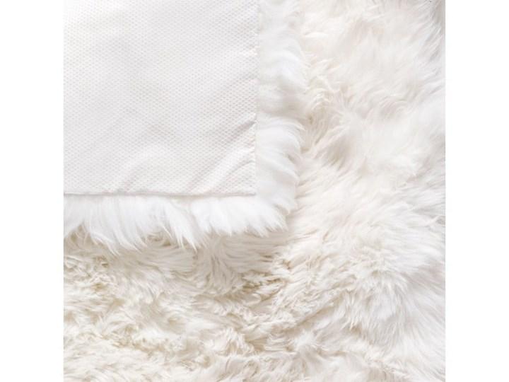 Biały Dywan Kwadratowy Z Owczej Wełny Royal Dream Zealand 70x70 Cm