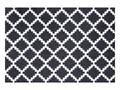 Czarno-biała wycieraczka Hanse Home Elegance, 50x70 cm Kolor Biały Tworzywo sztuczne Kolor Czarny