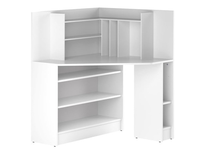 Białe biurko narożne TemaHome Archi Styl Nowoczesny