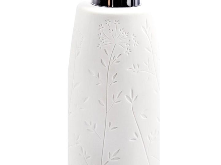 Biały ceramiczny dozownik do mydła Wenko Flora Ceramika Dozowniki Kategoria Mydelniczki i dozowniki
