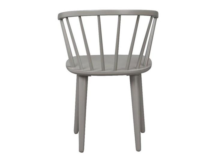 Jasnoszare krzesło do jadalni z drewna kauczukowca Rowico Carmen