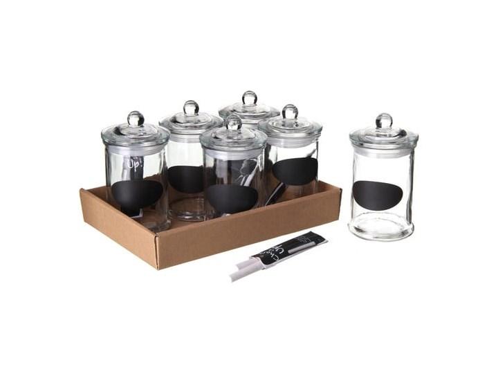 Zestaw 6 hermetycznych słoiczków na przyprawy Tiza, 300 ml Zestaw do przypraw Kolor Biały Kategoria Przyprawniki