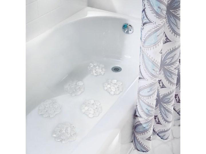 Komplet 6 antypoślizgowych mat do wanny iDesign Pebblz Syntetyk Kategoria Dywaniki łazienkowe