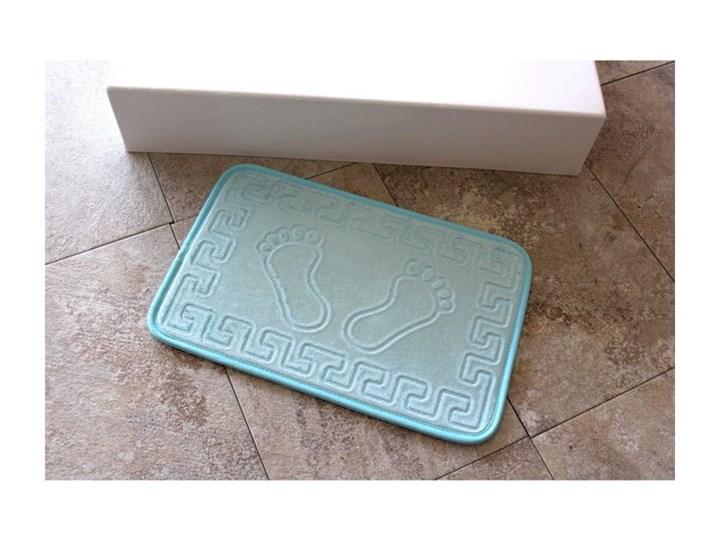 Jasnoniebieski dywanik łazienkowy Ayakizi, 60x40 cm 40x60 cm Kategoria Dywaniki łazienkowe