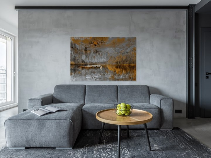 Tchnienie słońca - nowoczesny obraz na płótnie - 120x80 cm Pomieszczenie Salon Kolor Brązowy
