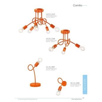 Camilla lampa sufitowa 5-punktowa supełek orange