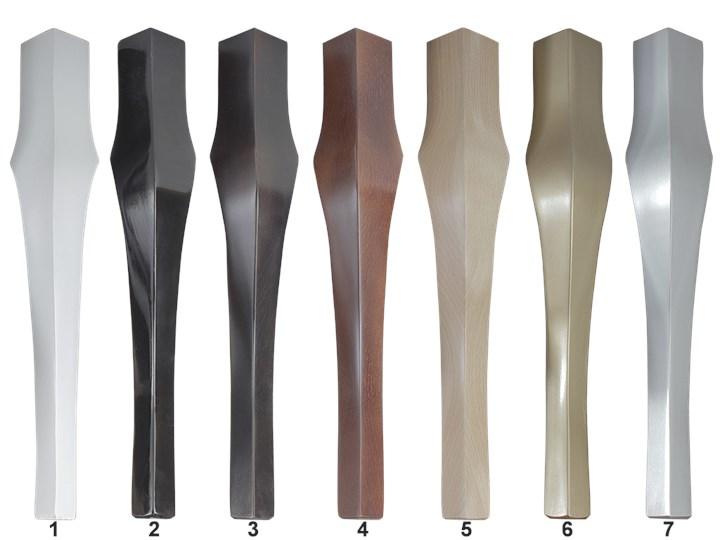 Ławka pikowana Sabre Wave Materiał nóżek Drewno Pomieszczenie Przedpokój