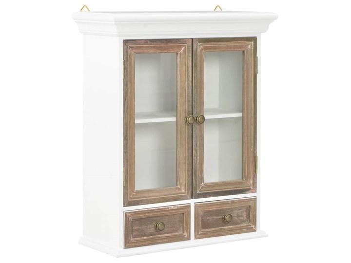 vidaXL Szafka wisząca, biała, 49 x 22 x 59 cm, lite drewno Kategoria Szafki kuchenne Kolor Biały