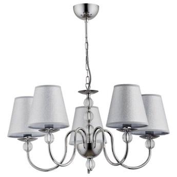 Lampa wisząca żyrandol z abażurami EMMANUELLE chrom śr. 57cm
