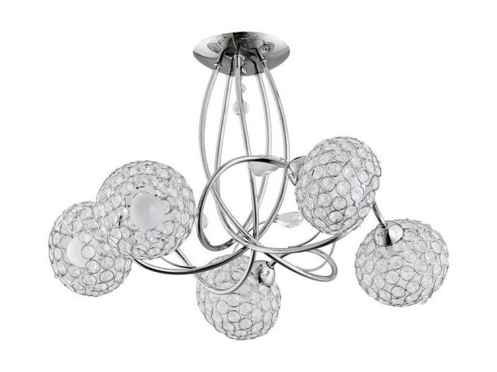 Lampa sufitowa nowoczesna z kryształkami żyrandol BRYLANT V chrom śr. 54cm