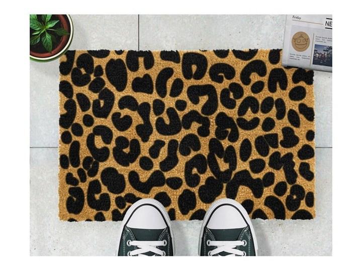 Wycieraczka z naturalnego włókna kokosowego Artsy Doormats Leopard, 40x60 cm Kolor Brązowy Włókno kokosowe Kategoria Wycieraczki