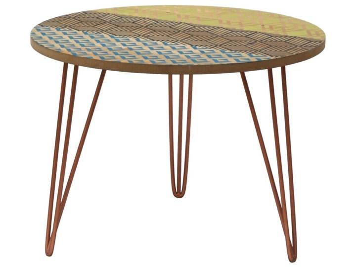 Portofino 043B Stolik vintage Metal Wysokość 37 cm Kategoria Stoliki i ławy Drewno Kolor Wielokolorowy