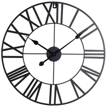 Zegar metalowy VINTAGE z rzymskimi cyframi, Ø 57 cm