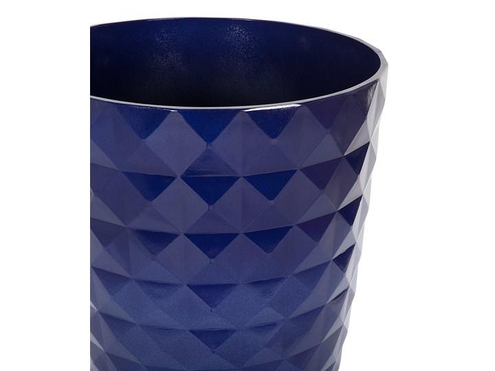 Zestaw dwóch niebieskich doniczek okrągłe dekoracyjne ozdobne salon stolik kawowy sypialnia ogród balkon taras Włókno szklane Doniczka na kwiaty Kategoria Doniczki i kwietniki