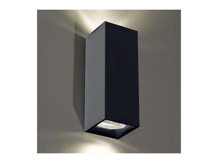 Kinkiet LAMPA ścienna OZU 4402/GU10/CZ Shilo metalowa OPRAWA przyścienna prostokątna czarna