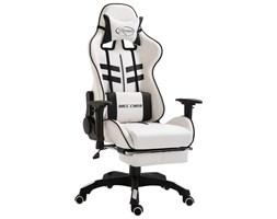 VidaXL Nowoczesne krzesło obrotowe regulowane imitacja skóry