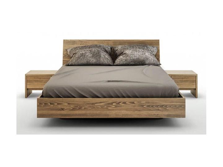 zestaw WYSYŁKA 24H ! - Ballega łóżko bukowe lewitujące 140x200 cm, kol. orzech jasny OR plus dwie szafki nocne