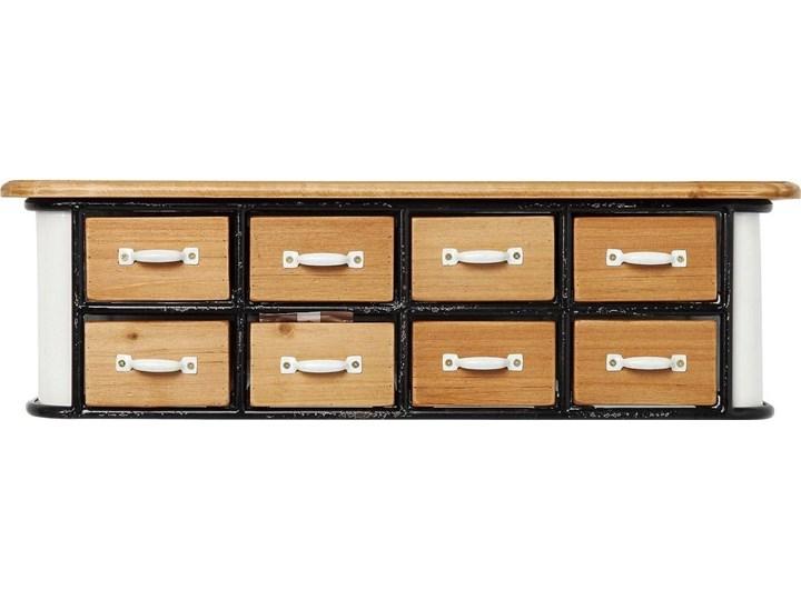 Regał Grannys Kitchen 54x15 cm biało-drewniany