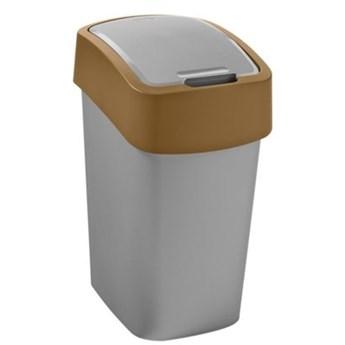 Kosz na śmieci CURVER 235863 9L Srebrno-brązowy