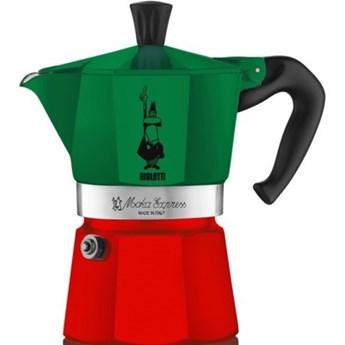 Kawiarka BIALETTI Moka Express Italia 6 TZ Zielono-czerwony