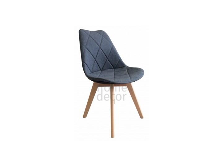 HOME DECOR KRZESŁO TAPICEROWANE KARO WOOD NOGI BUKOWE KRIS DAKOTA Szerokość 43 cm Tkanina Drewno Głębokość 41 cm Kategoria Krzesła kuchenne