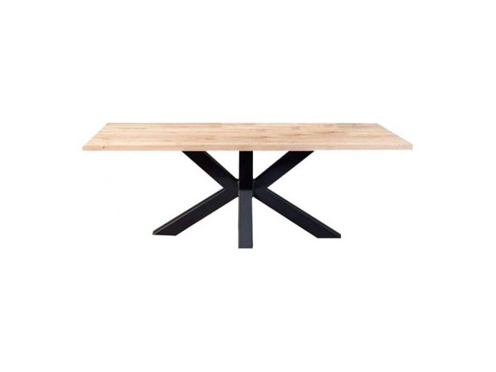 Stół VINCI na wymiar drewno lite stelaż metalowy czarny