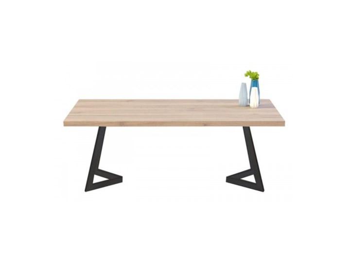 Stół OSLO na wymiar drewno lite stelaż metalowy czarny Wysokość 76 cm Sosna Długość 140 cm  Pomieszczenie Stoły do jadalni Kategoria Stoły kuchenne