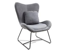 Fotel uszak industrialny wypoczynkowy do salonu loft na metalowych nogach 508 szary