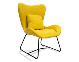 Fotel uszak industrialny wypoczynkowy do salonu loft na metalowych nogach 508 żółty