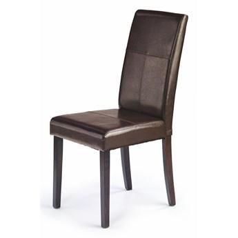 SELSEY Krzesło tapicerowane Seget brązowe