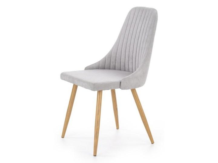 SELSEY Krzesło tapicerowane Muela jasnopopielate Drewno Tkanina Stal Krzesło inspirowane Metal Kategoria Krzesła kuchenne