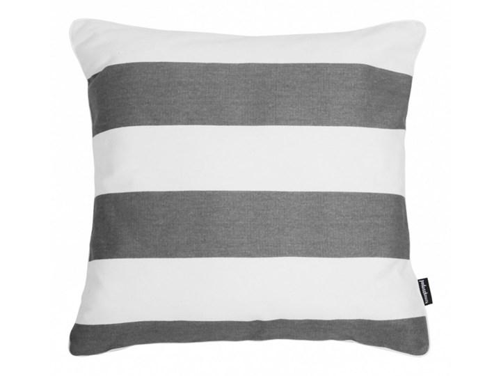 Poduszka bawełniana w szaro-białe pasy