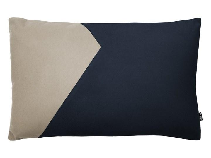 Poduszka dekoracyjna Cut granatowo-beżowa