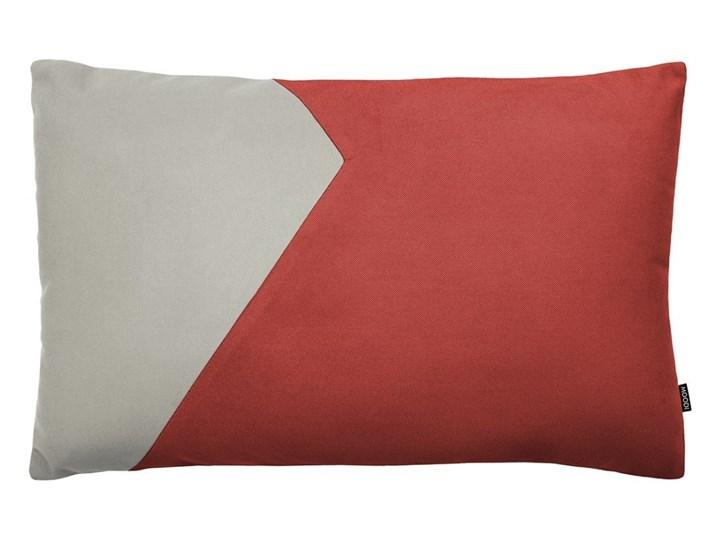 Poduszka dekoracyjna Cut szaro-czerwona