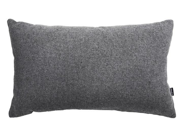 Szara wełniana poduszka dekoracyjna 50x30 cm.