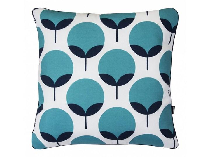 Turkusowa poduszka dekoracyjna Oxford 45x45 cm