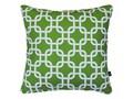 Zielona poduszka dekoracyjna Trellis 45x45 cm dwustronna