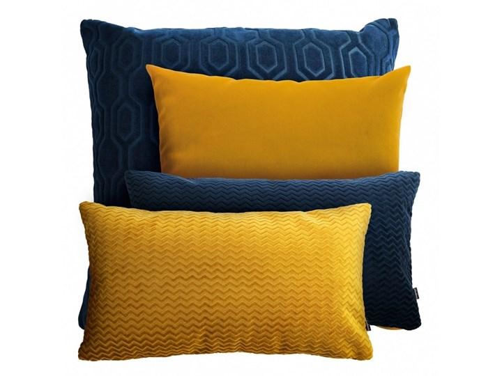 Granatowo miodowy zestaw poduszek dekoracyjnych