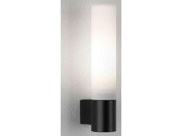 Kinkiet Lampa ścienna Bari 8037 Astro Szklana Oprawa Tuba Do łazienki Ip44 Czarna Biała