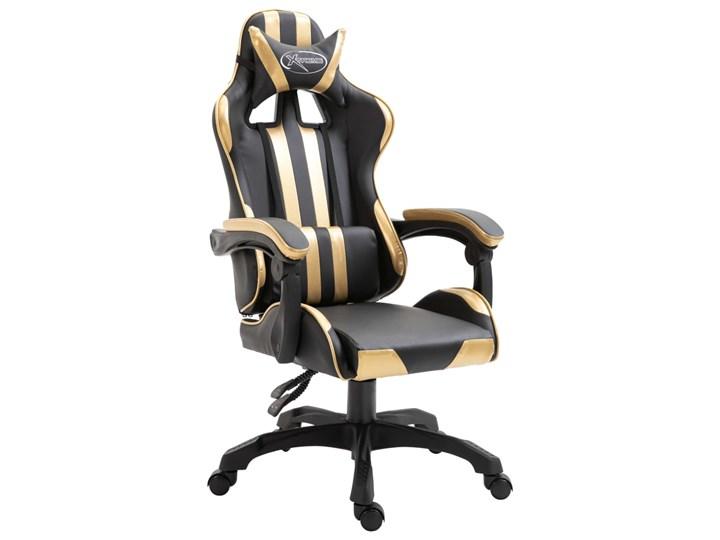 vidaXL Fotel dla gracza, złoty, PU Fotel obrotowy Fotel gamingowy Fotel obrotowy Fotel biurowy Krzesło biurowe Fotel tradycyjny