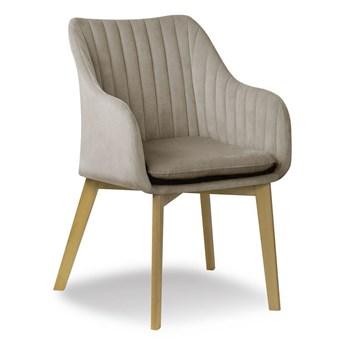 Krzesło HANN muszelka beż PA 03/ buk ,dąb