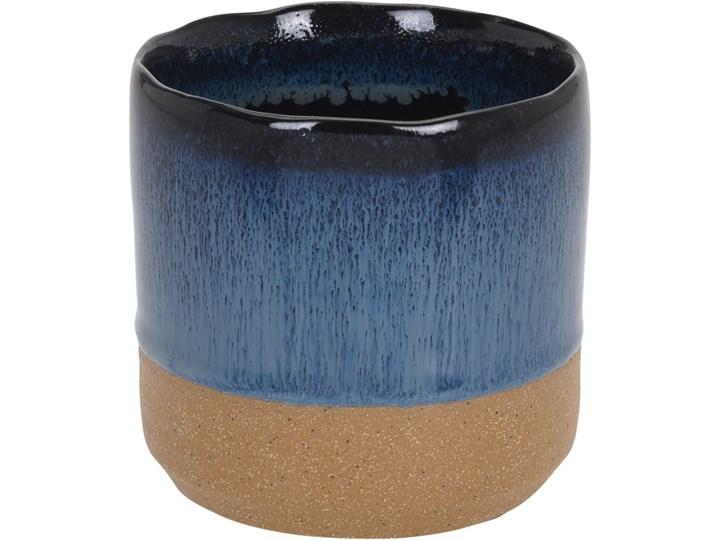Ceramiczna Osłonka Na Kwiaty Granatowa 95x95cm Doniczki