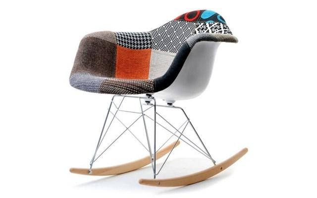 Designerski Fotel Bujany Z Tapicerowanym Obiciem Mpa Roc Tap Patchwork