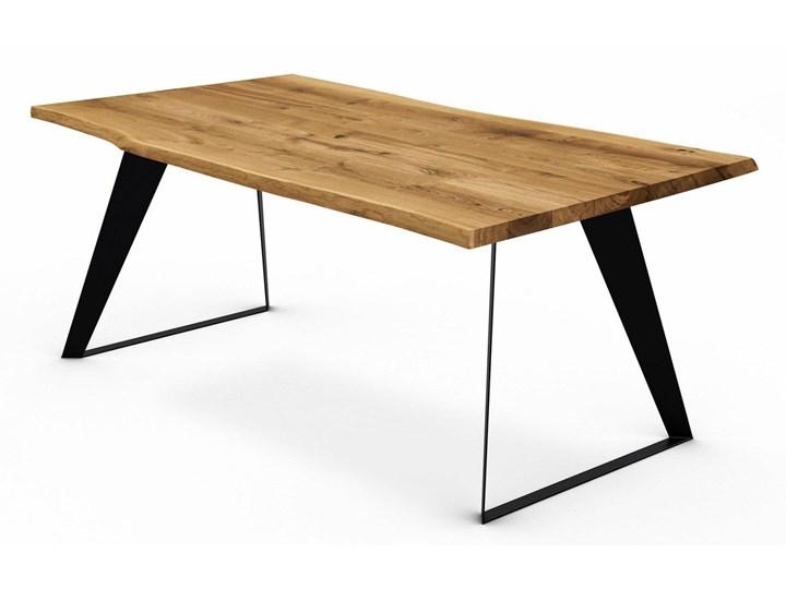 Stół z naturalnym blatem dębowym Breno