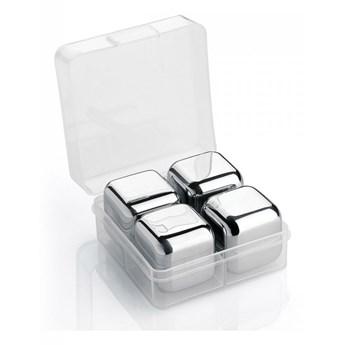 stalowe kostki chłodzace w pudełku, 4 szt., 2,5 x 2,5 x 2,5 cm kod: CI-150704