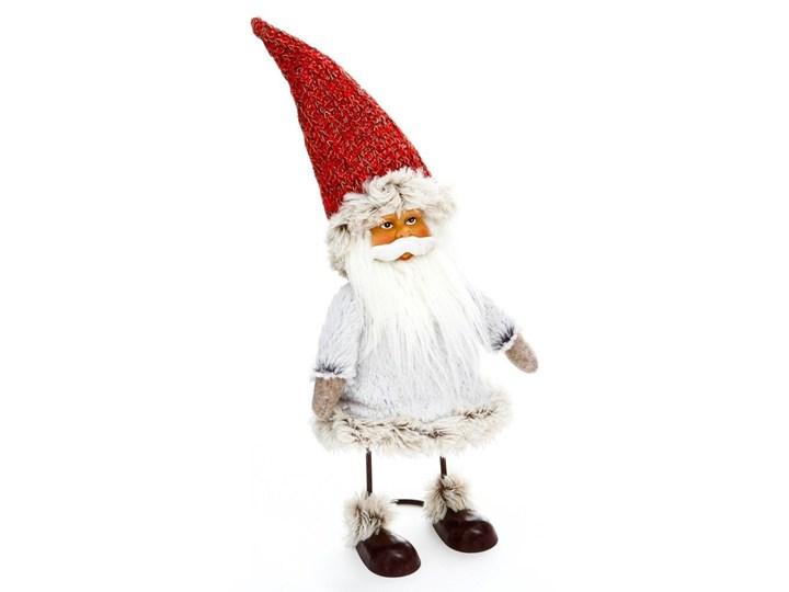 Figurka z motywem Świętego Mikołaja na metalowej konstrukcji