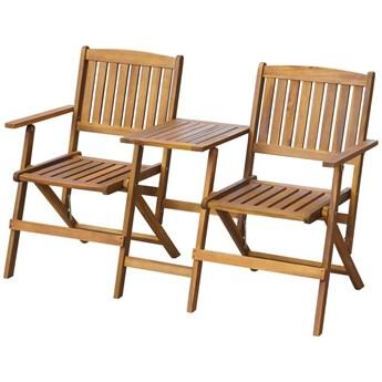 Drewniana ławka ogrodowa Lango - brązowa