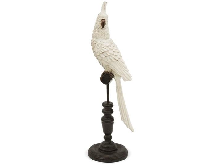 PAPUGA NIMFA BEŻOWA figurka na stojaku, wys. 36 cm