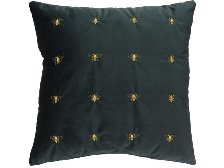 Poduszka Ciemno Zielona W Złote Pszczoły 45x45cm Poduszki