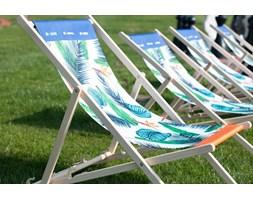 Krzesło plażowe logo Psb